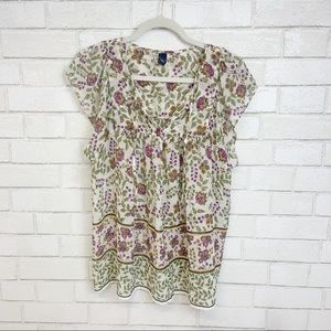 Gap Floral Open Sleeve Blouse (P15)